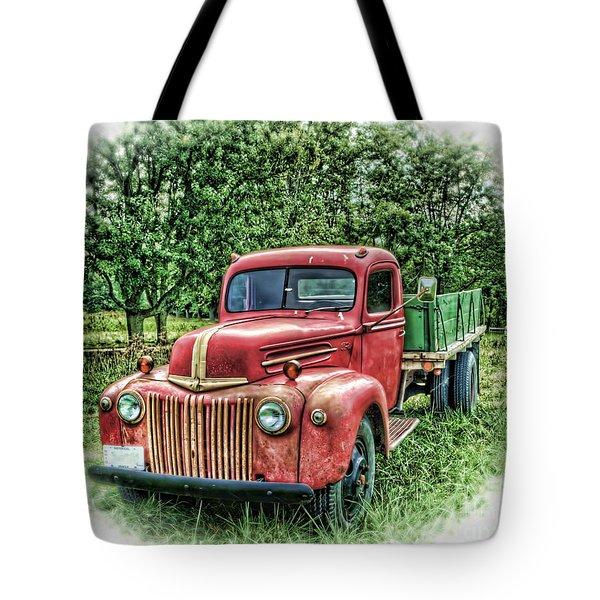 Rocks Old Truck Tote Bag by Pamela Baker