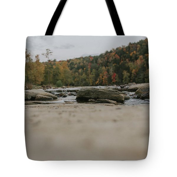 Rocks On Cumberland River Tote Bag