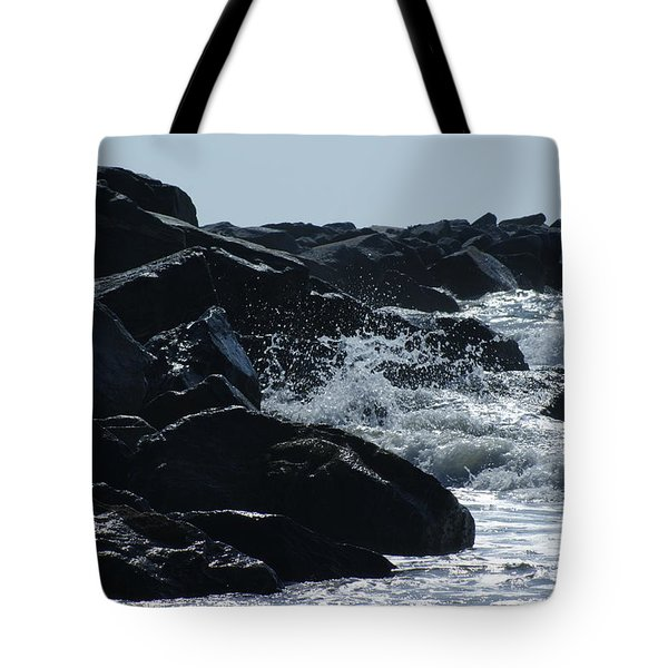 Rocks On The Jetti At Cocoa Beach Tote Bag