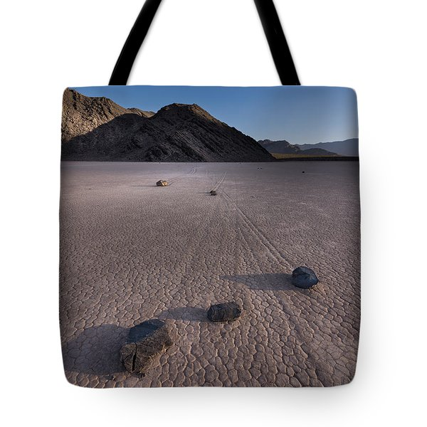 Rocks On The Racetrack Death Valley Tote Bag