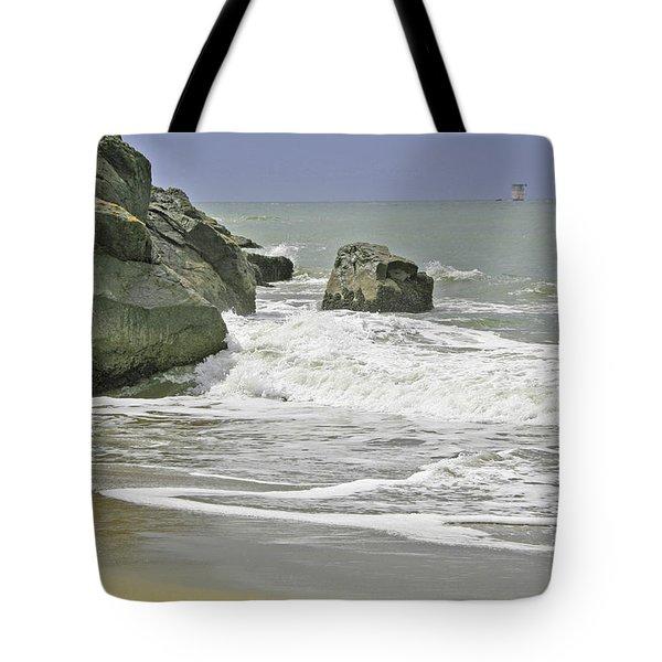Rocks, Sand And Surf Tote Bag