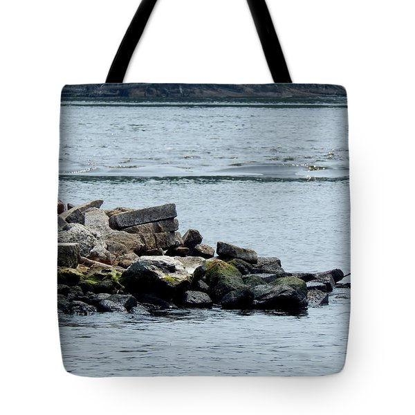 Rocks Wingdam And River Tote Bag