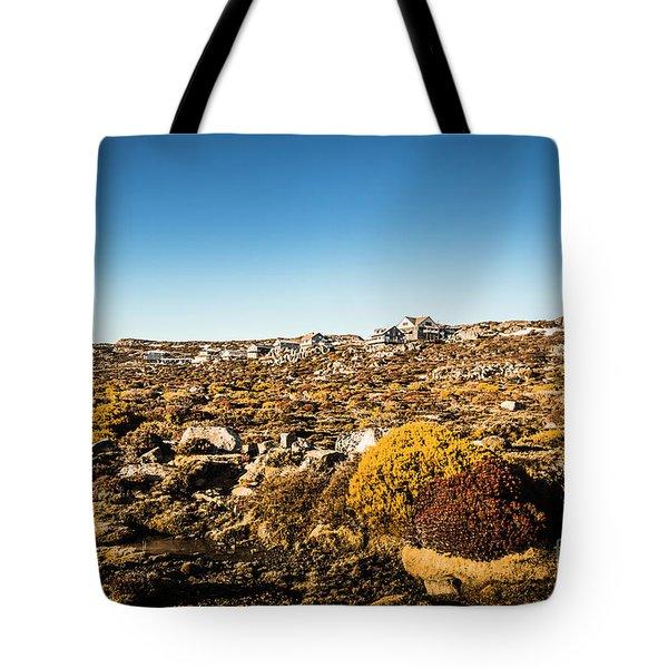 Rocky Alpine Village Tote Bag
