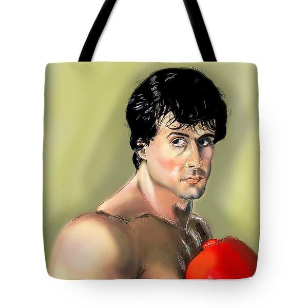 Rocky Balboa Tote Bag by Vinny John Usuriello