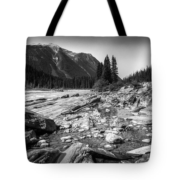 Rocky Banks Of Kootenay River Tote Bag