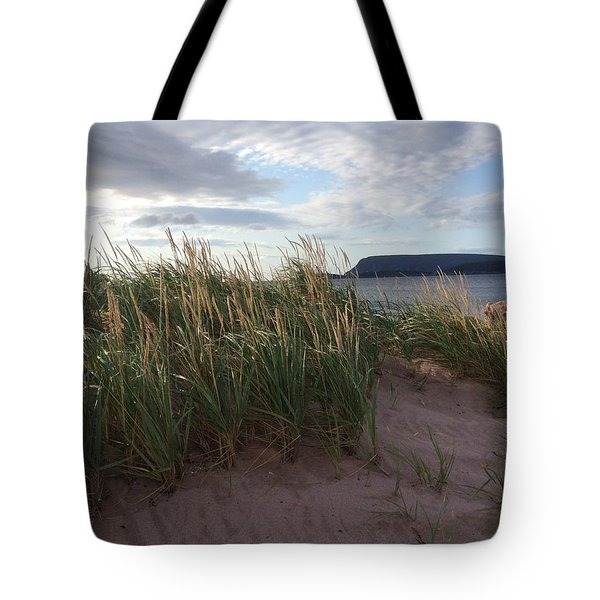 Tote Bag featuring the photograph Rocky Bay Harbour by Pat Purdy