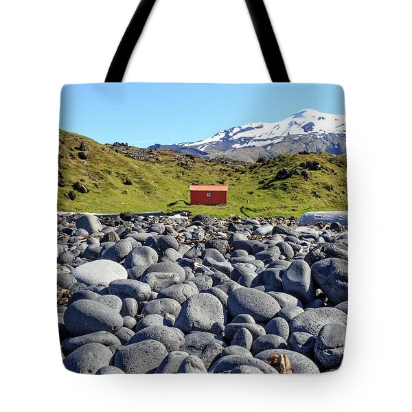 Tote Bag featuring the photograph Rocky Beach Iceland by Edward Fielding
