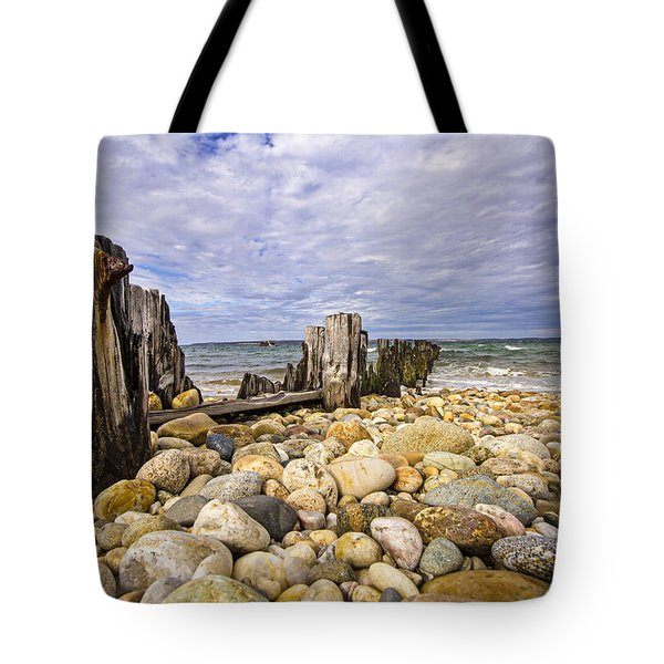 Rocky Beach In Springs Ny Tote Bag