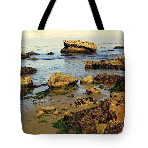 Rocky Beach Tote Bag by Marty Koch