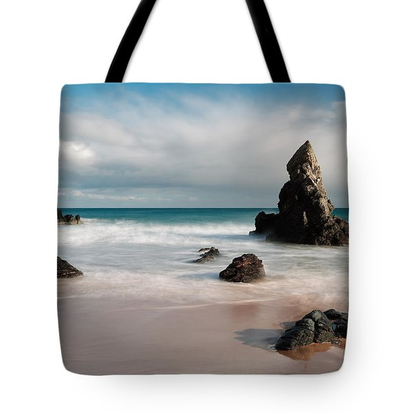 Rocky Beach On Sango Bay Tote Bag