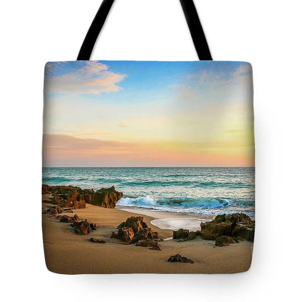 Tote Bag featuring the photograph Rocky Beach by Tom Claud