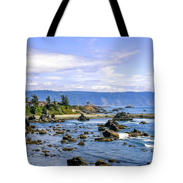 Rocky California Coastline Tote Bag