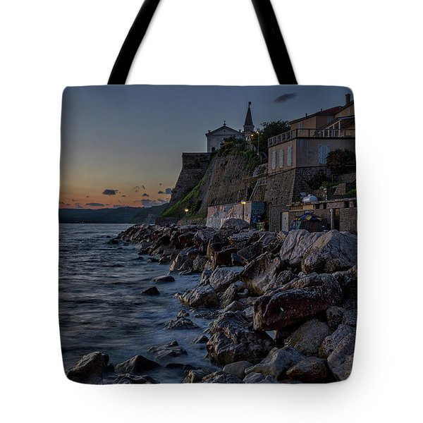 Tote Bag featuring the photograph Rocky Coast At Dawn - Piran - Slovenia by Stuart Litoff