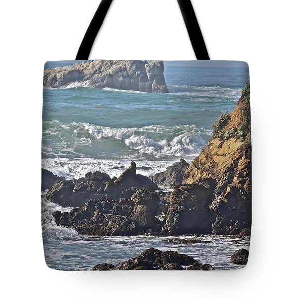 Rocky Coast Tote Bag