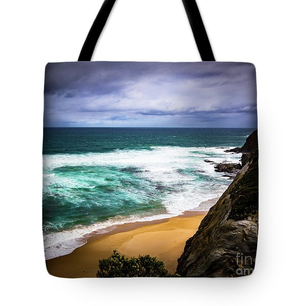 Tote Bag featuring the photograph Rocky Coast by Perry Webster