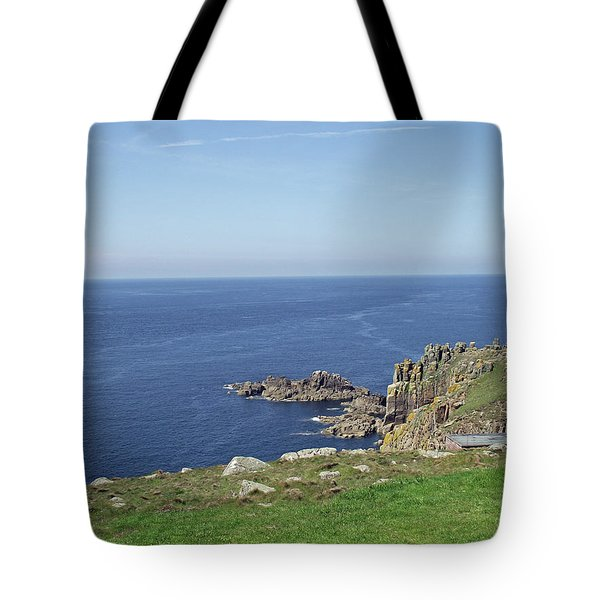 Rocky Coastline At Land's End Tote Bag