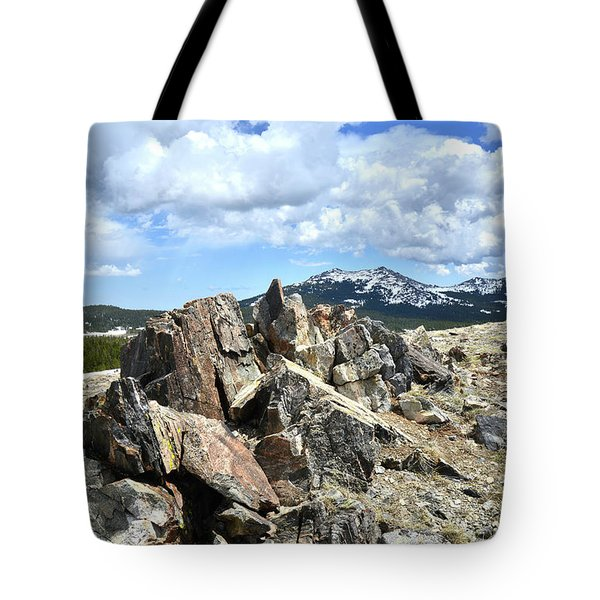 Rocky Crest At Big Horn Pass Tote Bag