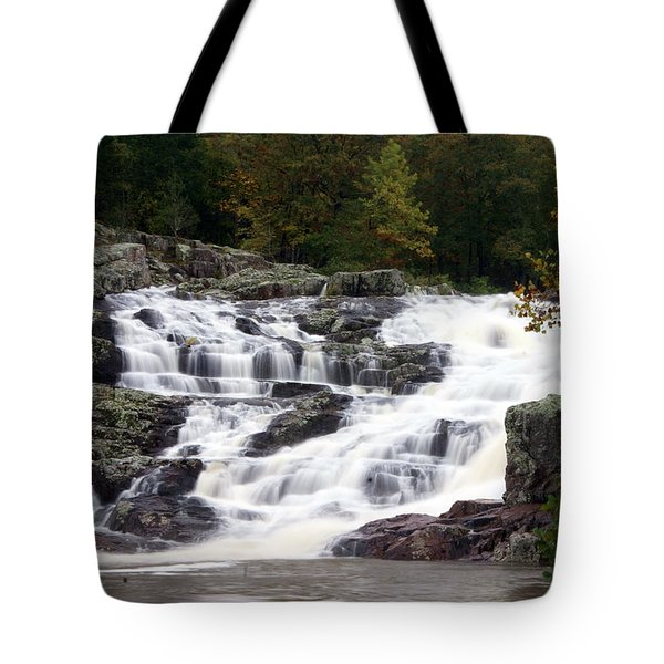 Rocky Falls Tote Bag by Marty Koch