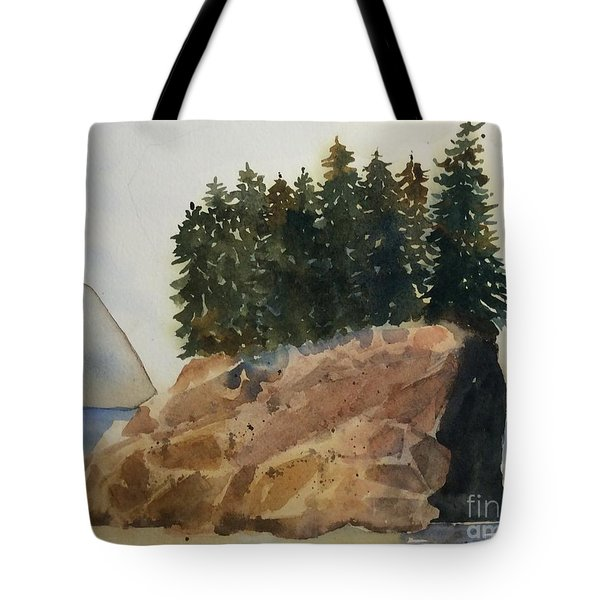 Rocky Forest Tote Bag