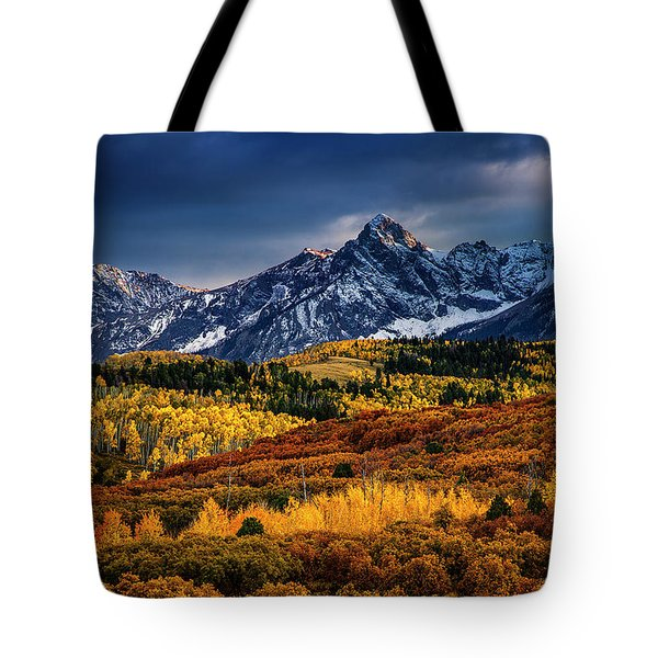 Tote Bag featuring the photograph Rocky Mountain Autumn by Andrew Soundarajan