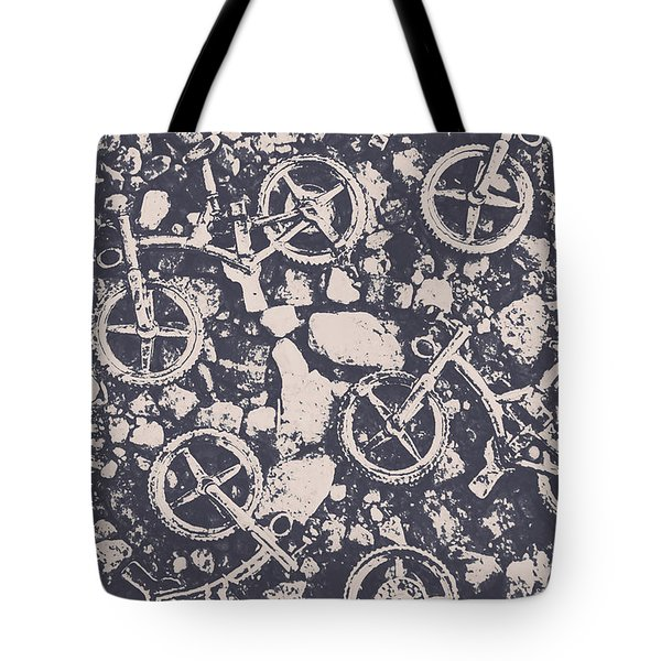 Rocky Mountain Bike Trail Tote Bag