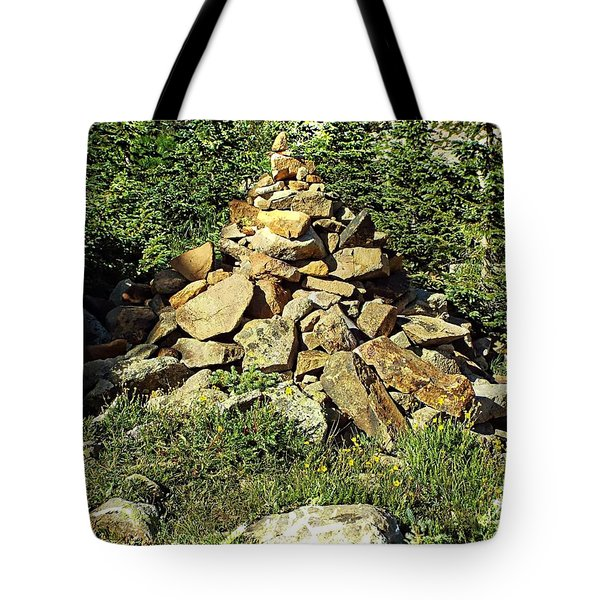 Rocky Mountain Cairn Tote Bag by Joseph Hendrix