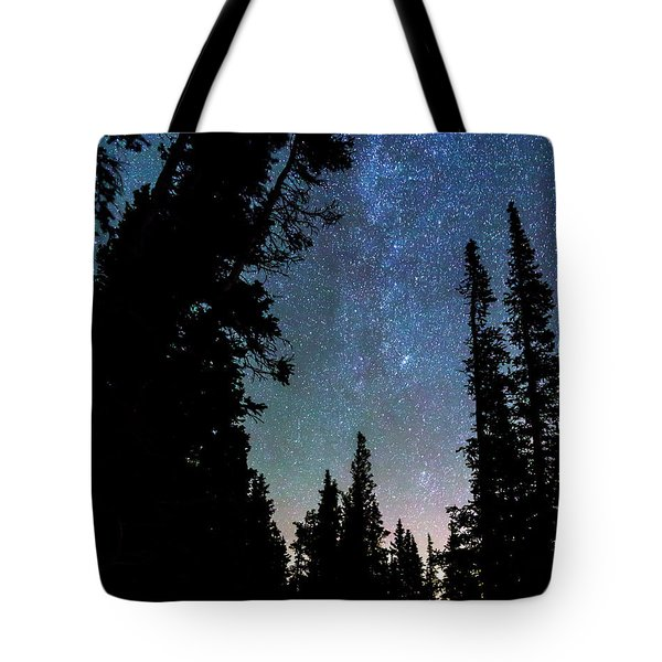 Tote Bag featuring the photograph Rocky Mountain Forest Night by James BO Insogna