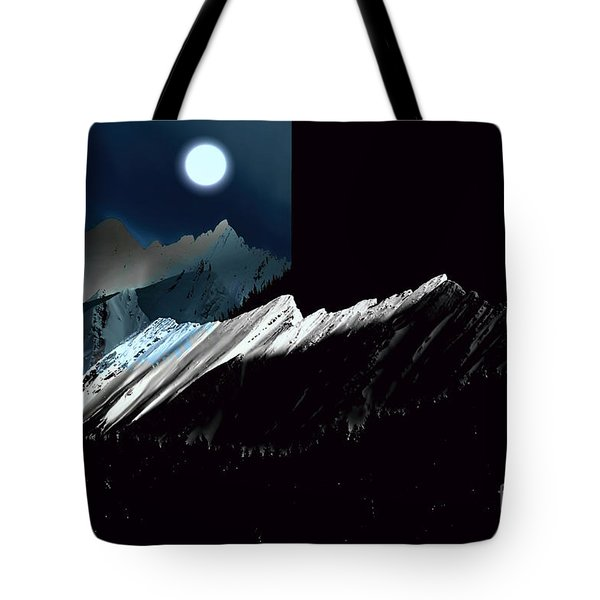 Rocky Mountain Glory In Moonlight Tote Bag by Elaine Hunter