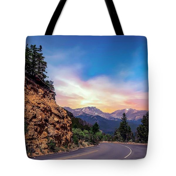Rocky Mountain High Road Tote Bag
