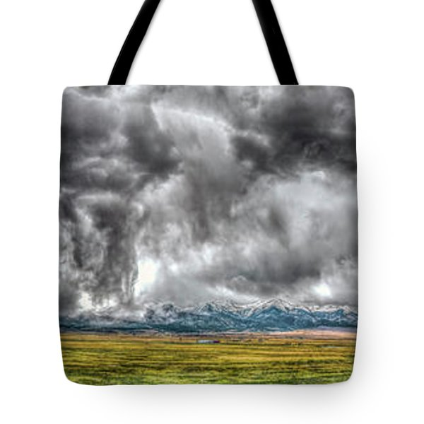 Rocky Mountain Panorama Hdr Tote Bag