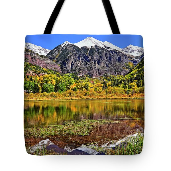 Rocky Mountain Reflections - Telluride - Colorado Tote Bag by Jason Politte