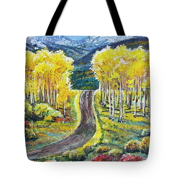 Rocky Mountain Road Tote Bag