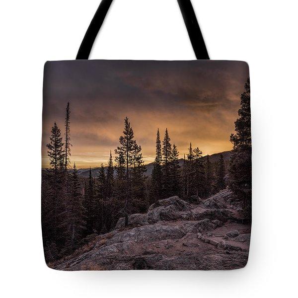Rocky Mountain Skyfire Tote Bag