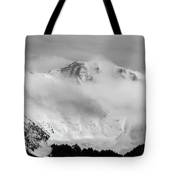 Rocky Mountain Snowy Peak Tote Bag