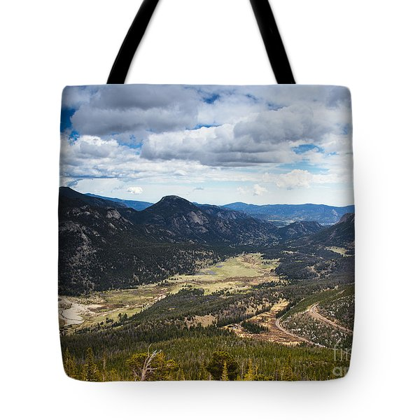 Rocky Mountain Storm Clouds Over The Valley Tote Bag