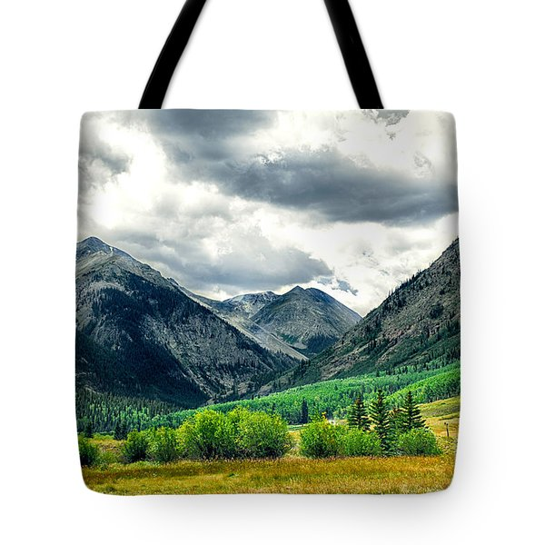 Rocky Mountain Storm Tote Bag