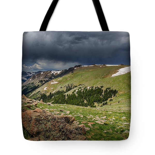 Rocky Mountain Strorm Tote Bag