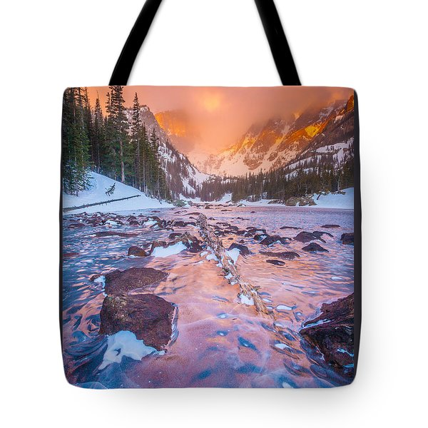 Rocky Mountain Sunrise Tote Bag by Steven Reed