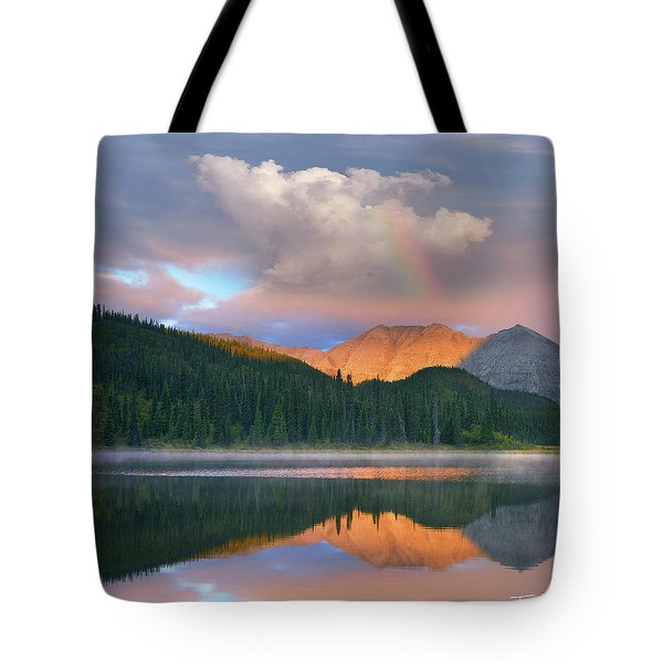 Rocky Mountain Tote Bag by Tim Fitzharris