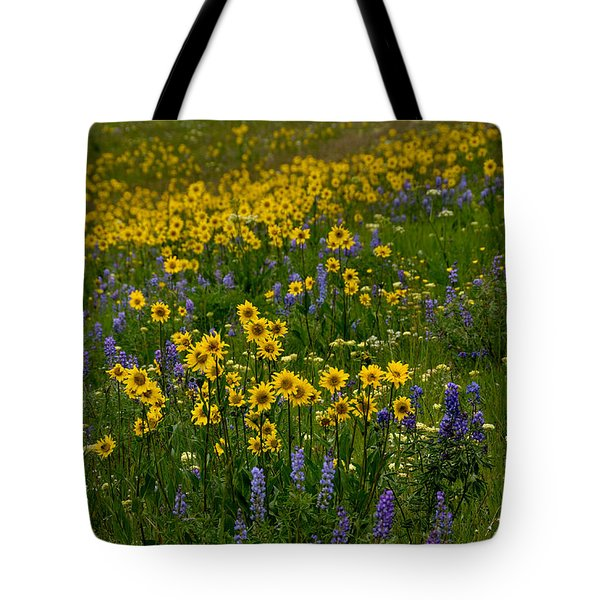 Rocky Mountain Wildflowers Tote Bag