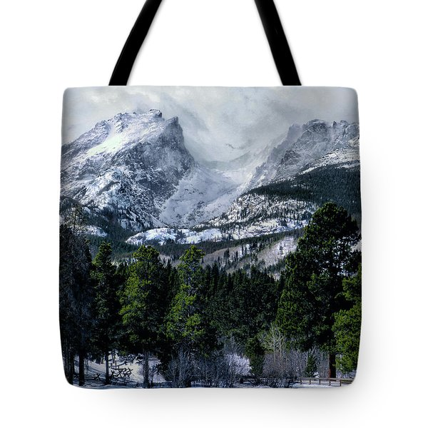 Rocky Mountain Winter Tote Bag by Jim Hill