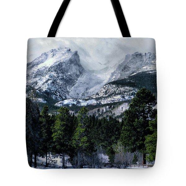 Rocky Mountain Winter Tote Bag