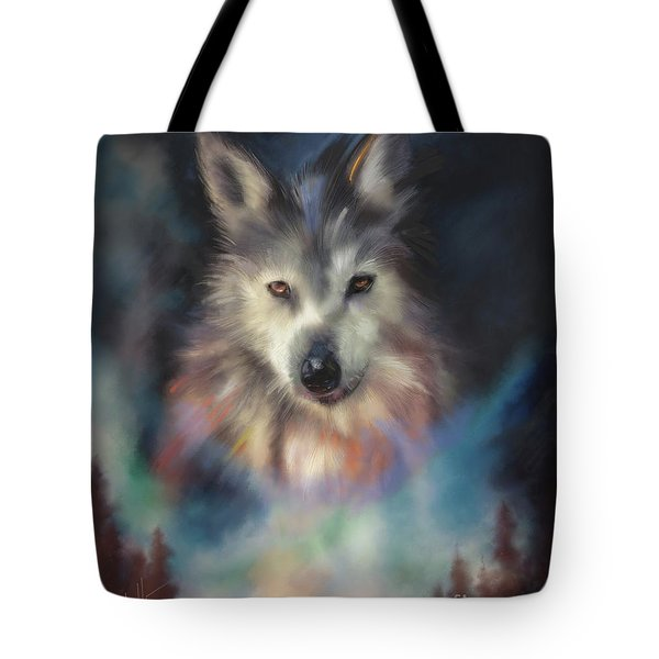 Rocky Mountain Wolf Series Tote Bag
