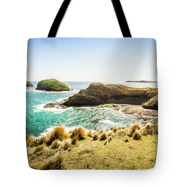 Rocky Ocean Capes Tote Bag