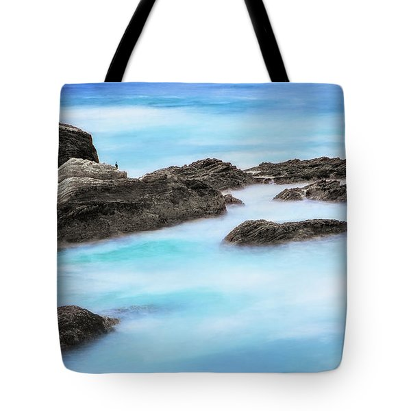 Tote Bag featuring the photograph Rocky Ocean by John A Rodriguez