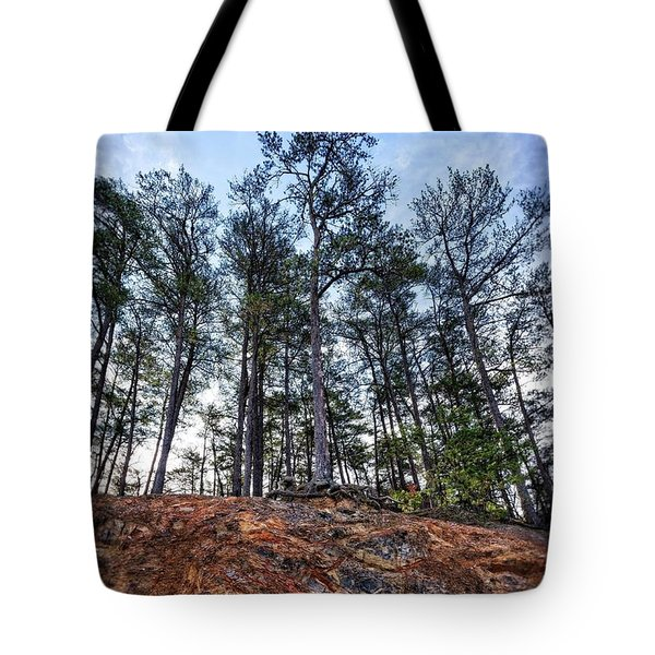 Tote Bag featuring the photograph Rocky Pines by Alan Raasch