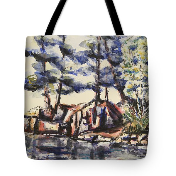 Rocky Pines Tote Bag by Heather Kertzer