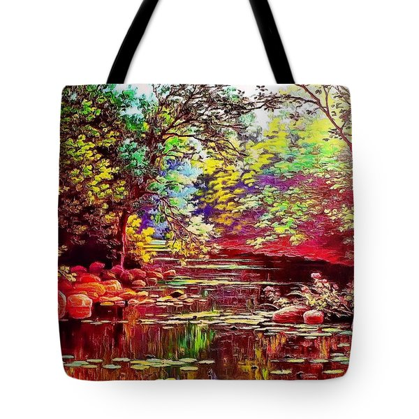 Rocky Rainbow River Tote Bag