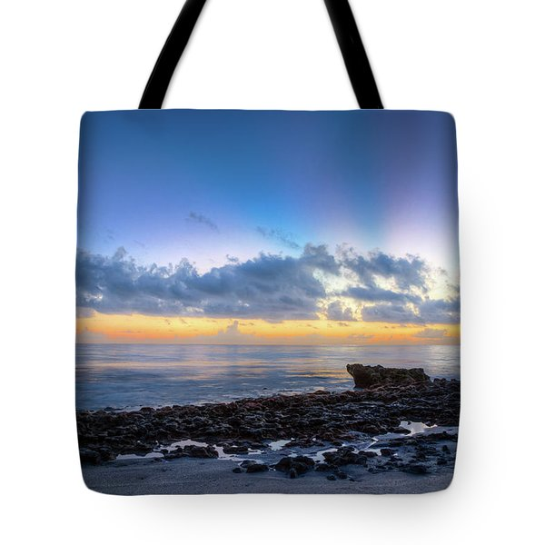 Tote Bag featuring the photograph Rocky Reef At Low Tide by Debra and Dave Vanderlaan
