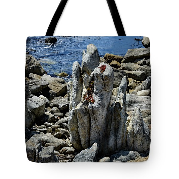 Rocky Remains At Carmel Point Tote Bag